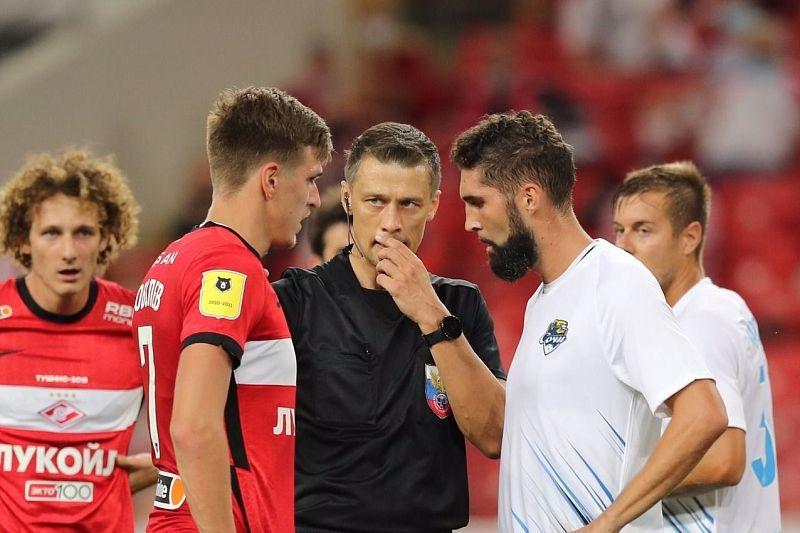 Судью матча «Спартак» — «Сочи» Казарцева отстранили от работы