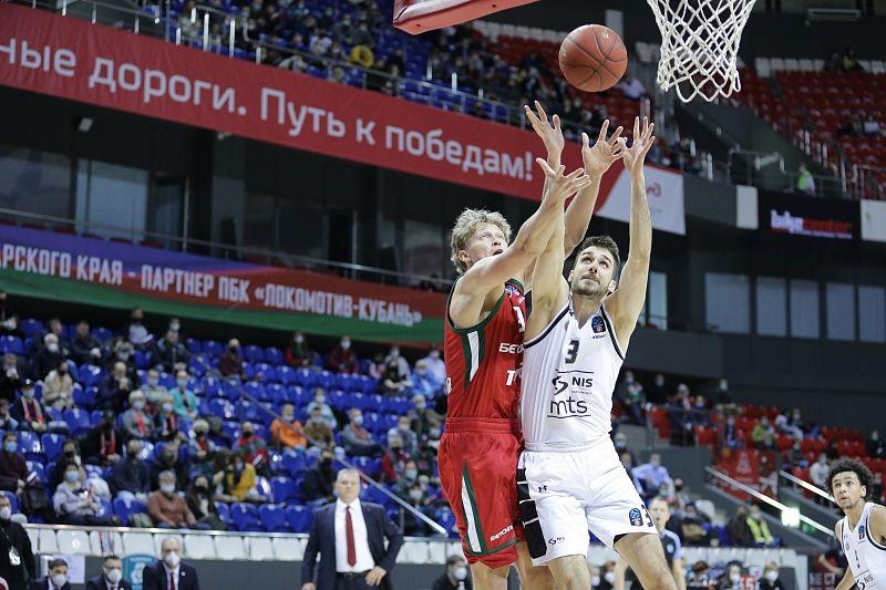 Первая победа в топ-16: «Локомотив-Кубань» обыграл «Партизан»
