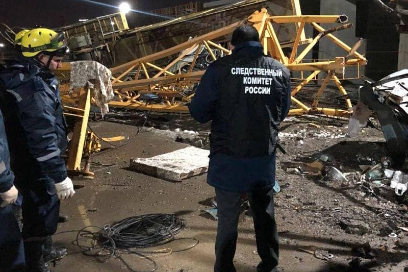 СК возбудил уголовное дело после гибели двух человек при падении башенного крана на стройплощадке