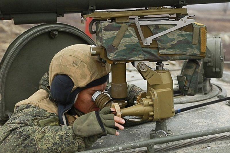 Артиллеристы-десантники выполнили боевые пуски ракет из ПРК «Корнет»