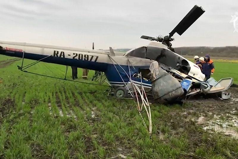 Ми-2 в Краснодарском крае упал после того, как задел деревья