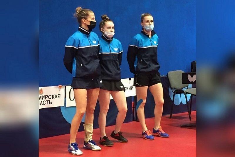 «Золото» чемпионата России по настольному теннису впервые завоевала женская сборная Краснодарского края
