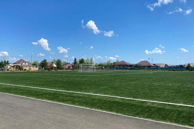 В станице Приморско-Ахтарского района капитально отремонтировали стадион